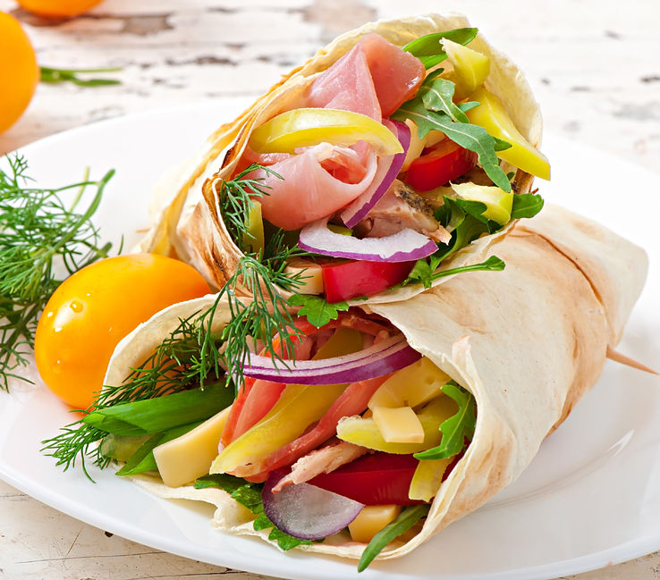 turkey wrap with vegetables