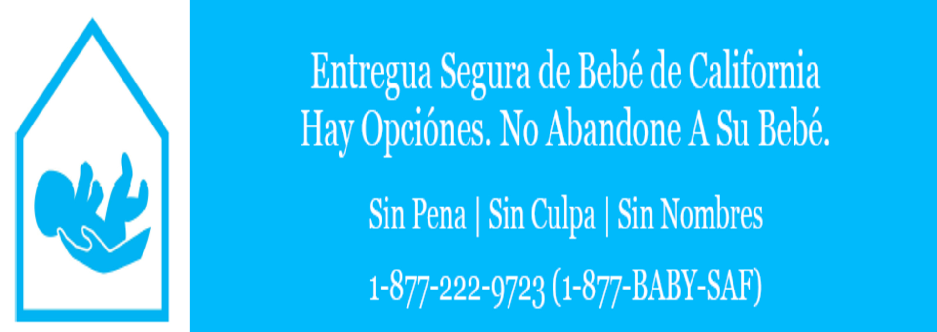 safe surrender baby spanish banner