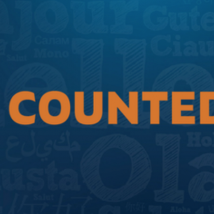 la county be counted logo banner