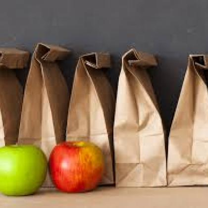 Paper Bag Lunch and apples