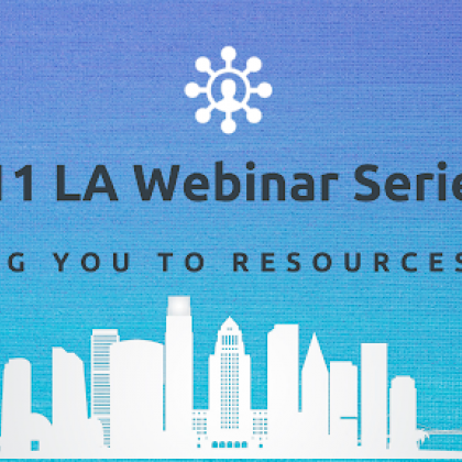 211 la webinar series Blue and White Professional Business Blog Banner