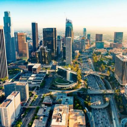 Aerial image of Downtown Los Angeles