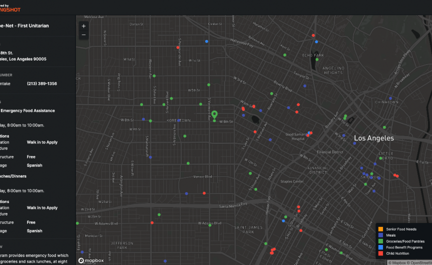 Image of 211 LA Food Finder mapping tool