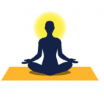 Individual Meditating on Yoga Mat Icon